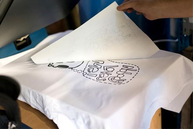 Công nghệ in decal chuyển nhiệt trên áo thun