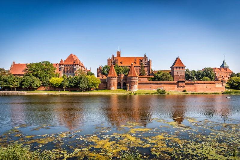 Lâu đài Malbork cổ kính theo phong cách kiến trúc Gothic
